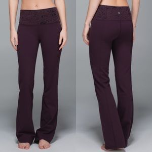 Lululemon Groove Pant Star Crushed Black Cherry
